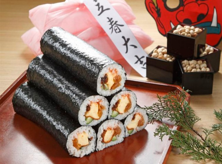 Kết quả hình ảnh cho Bánh sushi Ehomaki