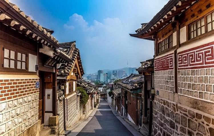 Kết quả hình ảnh cho làng văn hóa hanok